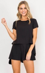 Your Pick playsuit in black