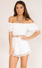 Youre My Favourite playsuit in white