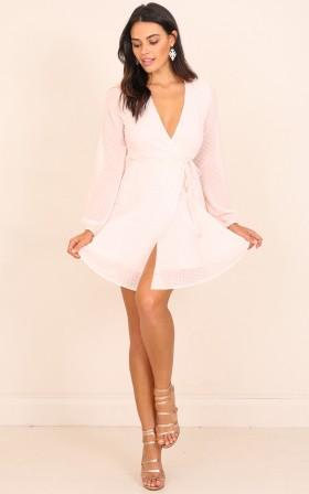 Across The Atlantic dress in blush