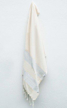 Ada turkish beach towel in light blue stripe