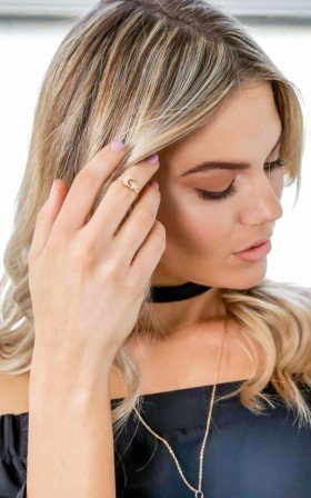 Aim For The Stars midi ring in gold