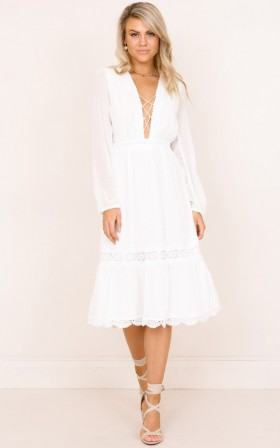 Always Dreaming dress in white