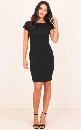 Boss Lady Dress in Black