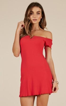 Breaking Hearts dress in red