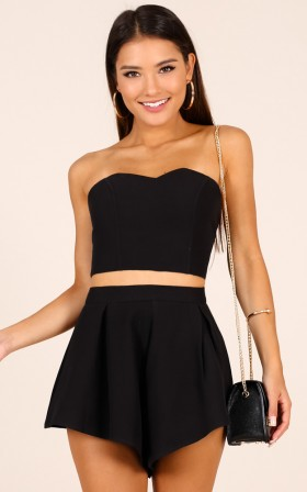 Dion two piece set in black