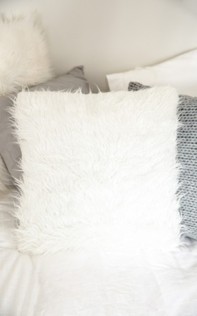 Five Wise cushion cover in white