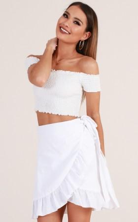 Hometown Girl skirt in white