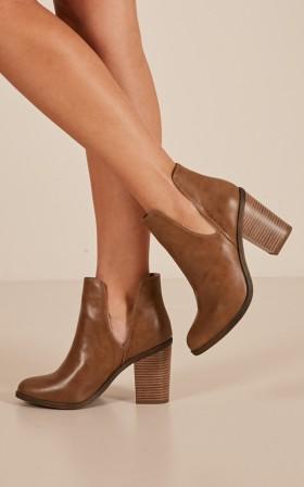 Lipstik - Joanie Boots in tan