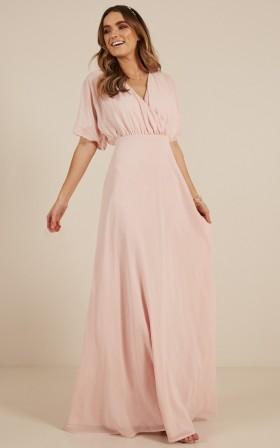 Love Is In The Air Maxi Dress in blush