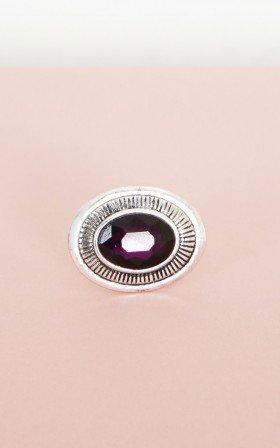 Purple Rain ring in silver