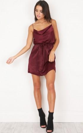 Rialto Dress in Wine