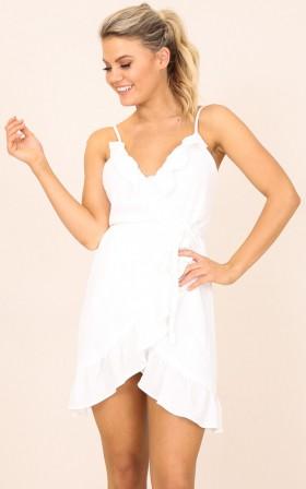Self Love dress in white