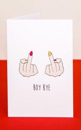 Boy Bye card