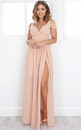 Stand Close dress in blush