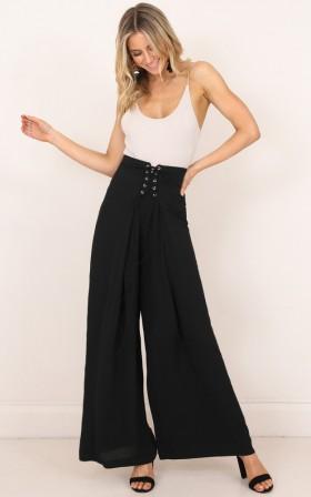 Is It Love pants in black