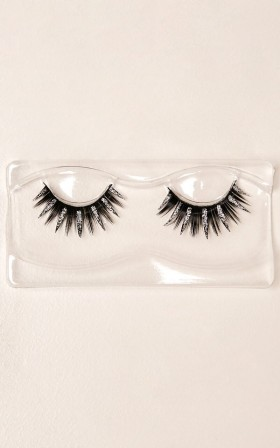 Show Stopper Glitter Lashes in silver