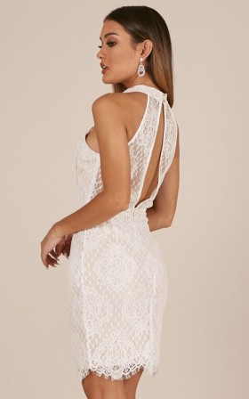 Three Wishes dress in white lace