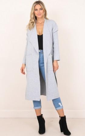 Almost Friends coat in grey