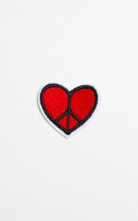 Hippie At Heart patch in red