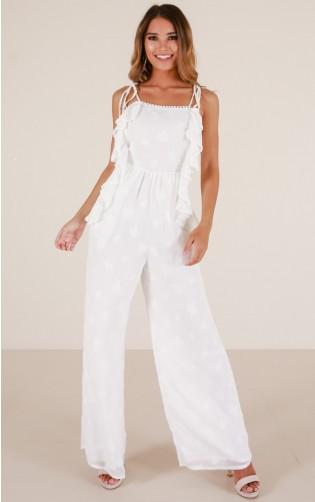 Summer Retreat jumpsuit in white