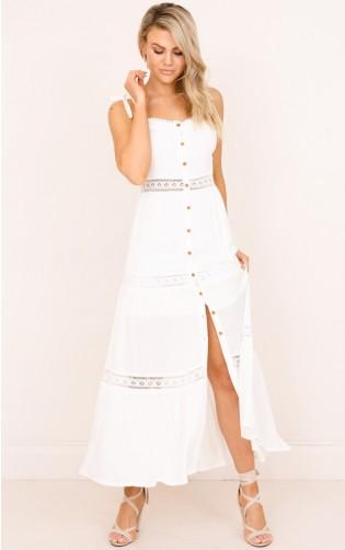 Cant Pretend maxi dress in white