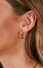 Here We Come earrings in gold