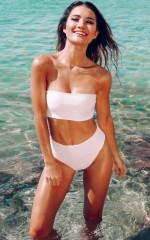 From The Beginning bikini set in white
