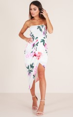 Sweet Like Me dress in white floral