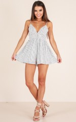 Make it count playsuit in white stripe