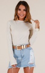 Aim For The Top knit in ivory