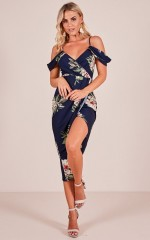 Give Me More dress in navy floral