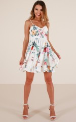 See The Sun dress in white floral