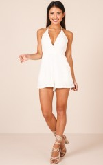 Almost Everything playsuit in white