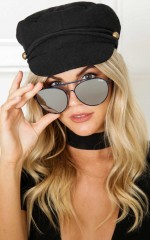 Quay - Lickety Split sunglasses in black and mint