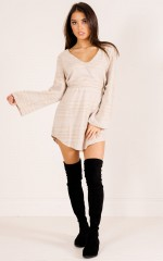 No Hesitation Dress in beige