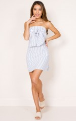 Invincible Dress in white stripe