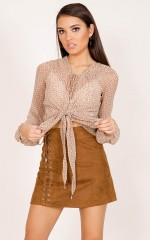 Le Freak Top in beige print