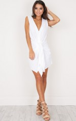 Vegas Skies Shirt Dress in white