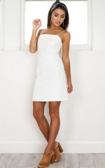 Deep Breath Dress in white