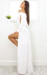 Scarlett maxi skirt in mocha stripe