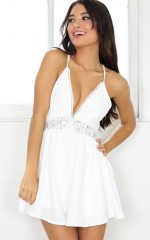 Acquainted playsuit in white