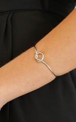 Twisted Knots bracelet in silver