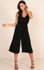 After Hours Jumpsuit in Black