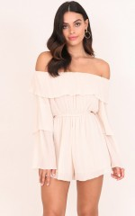 Angelica playsuit in beige