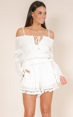 Another Dime playsuit in white