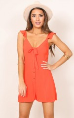 At The Start playsuit in orange