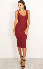 Audrey dress in wine