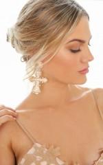 Bad Gal earrings in gold