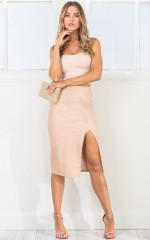 Bite the Bullet skirt in nude leatherette