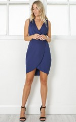 Be Here Dress in Navy